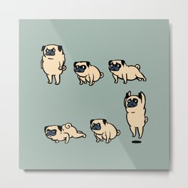 Pug Burpees Metal Print