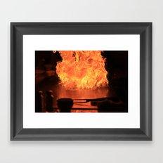 Fire Fire Fire Framed Art Print