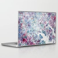 baltimore Laptop & iPad Skins featuring Baltimore by MapMapMaps.Watercolors