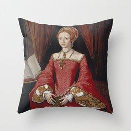 The Virgin Queen when a Princess Throw Pillow