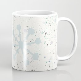 Cute Seamless Winter Pattern with subtle snowflakes Coffee Mug