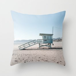 Santa Monica Beach Summer Evening Throw Pillow