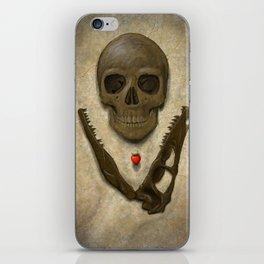 Impermanence - Velociraptor and Human Skull iPhone Skin