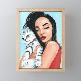 Love cat Framed Mini Art Print