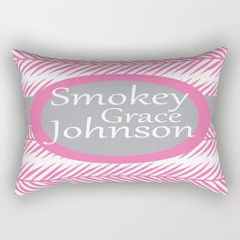 Fern Design- Pink and Grey Personalized Baby Shower Nursery Pillow Rectangular Pillow