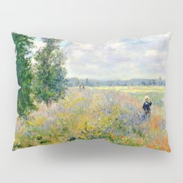 Poppy Fields near Argenteuil by Claude Monet Pillow Sham