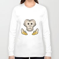 monkey island Long Sleeve T-shirts featuring Monkey by Nir P