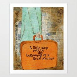 Little Step Art Print