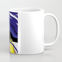"""""""Driving with my best friend"""" Paulette Lust's Original, Contemporary, Whimsical, Colorful Art Coffee Mug"""