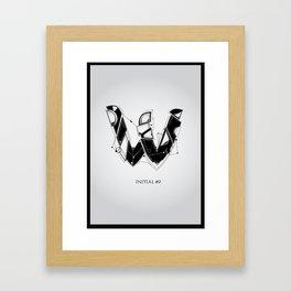 W. Framed Art Print