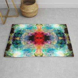 Fukuai - Colorful Abstract Batik Butterfly Ink Blot Mandala Art Rug