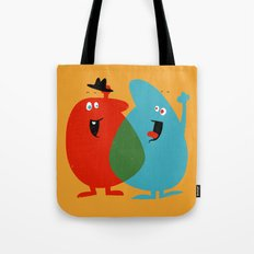 Hello Old Chum | Illustration of Friendship Tote Bag