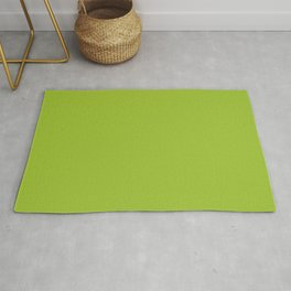 Bright Green Solid Color 2022 Autumn/Winter Trending Hue Pantone Lime Green 14-0452 Rug