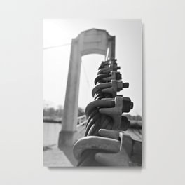 Bridge in Forest Park Metal Print