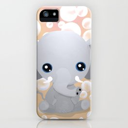 Elebubbles - Chibi Elephant (Peach) iPhone Case