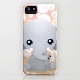Elebubbles - Chibi Elephant (Peach) iPhone Case