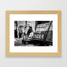 Indian gov. Framed Art Print