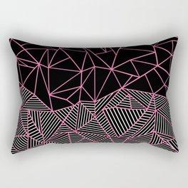 Ab Half an Half Black and Pink Rectangular Pillow