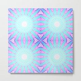 Pink & Blue Starlight Explosion Pastel Pattern Metal Print