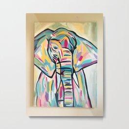 Momma Elephant Metal Print