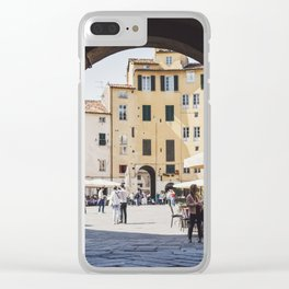 Tuscan Piazza Clear iPhone Case