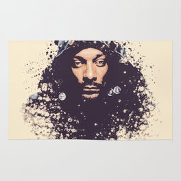Snoop Dogg splatter painting Rug