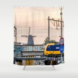 Sunrise Commute Shower Curtain