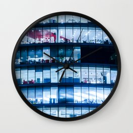 Offices at night Wall Clock
