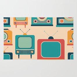 Retro TVs and Radios Rug
