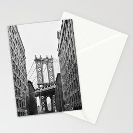 Brooklyn Bridge in New York, USA | Photography print | abstract travel art | Tipical NY building architecture photo Art Print Stationery Cards