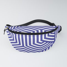 Blue (pigment) - blue - Minimal Vector Seamless Pattern Fanny Pack
