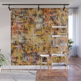 Urban Grunge Decay Texture Abstract Pattern Design , Rugged Mixed Media Modern Art Painting Wall Mural