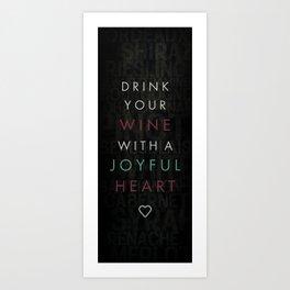 joyful heart Art Print