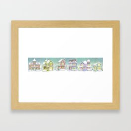 Row of Snow Houses Framed Art Print