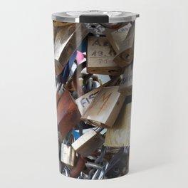Padlocks of love Travel Mug