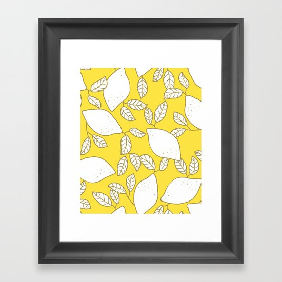 Lemons - yellow Framed Art Print