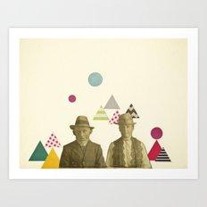 Childhood Sweethearts Art Print