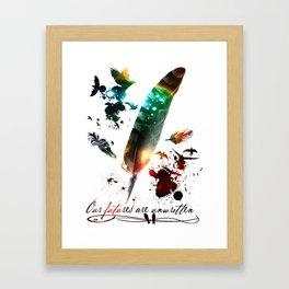 Futures Unwritten Framed Art Print