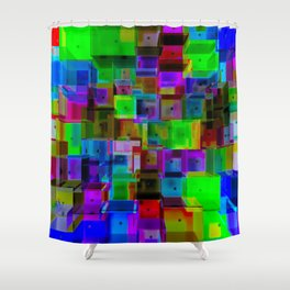 Rooms Two Shower Curtain