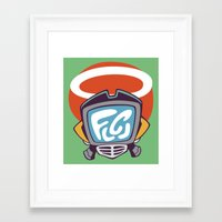 flcl Framed Art Prints featuring Canti by KogiZoné
