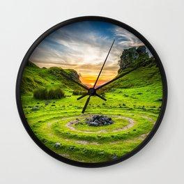 Fairytale Landscape, Isle of Skye, Scotland Wall Clock
