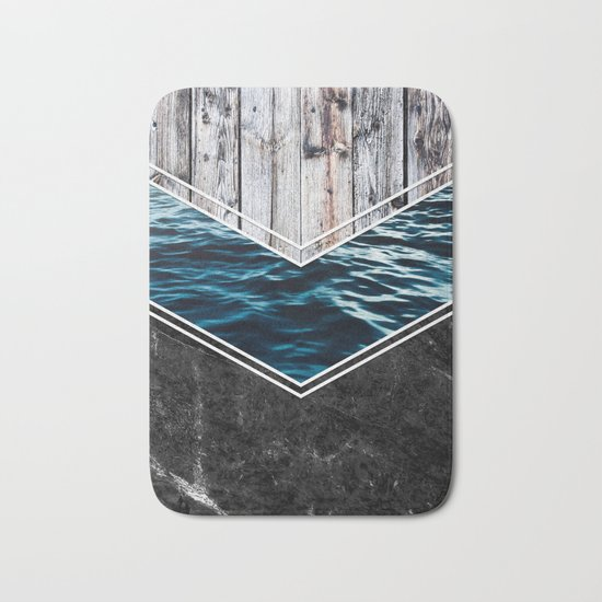 Striped Materials of Nature IV Bath Mat