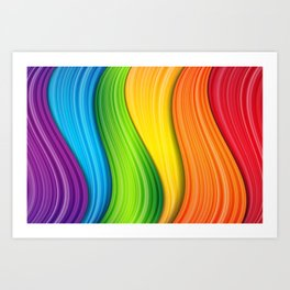Colorful Rainbow Kunstdrucke
