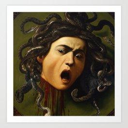 Medusa- Caravaggio Art Print