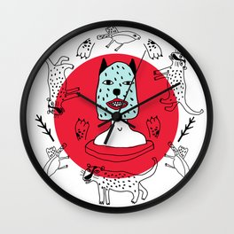 Kachina felina Wall Clock