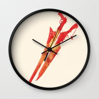 final fantasy Wall Clocks featuring Final Fantasy VIII by GIOdesign