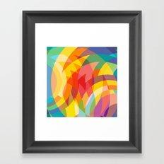 circle colour fields Framed Art Print