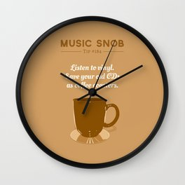 Coffee Coasters — Music Snob Tip #184 Wall Clock