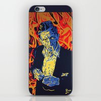 johnny cash iPhone & iPod Skins featuring Johnny Cash by Rich Anderson