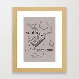 Kepler Space Telescope. 2007 - 2018. Framed Art Print